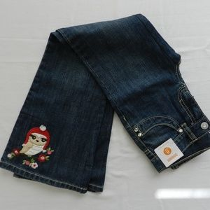 New Girls Size 8 SLIM Gymboree Jeans Cozy Owl
